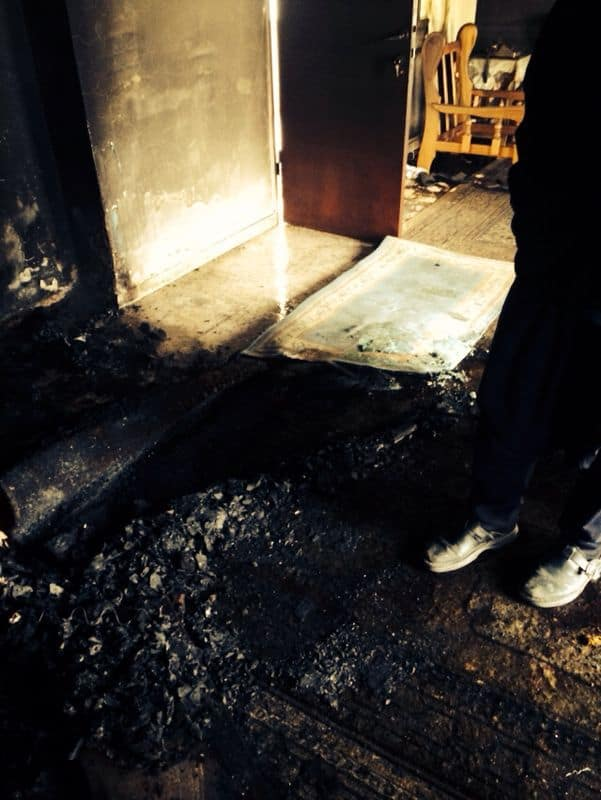 דירתה של קשישה שנשרפה למוות