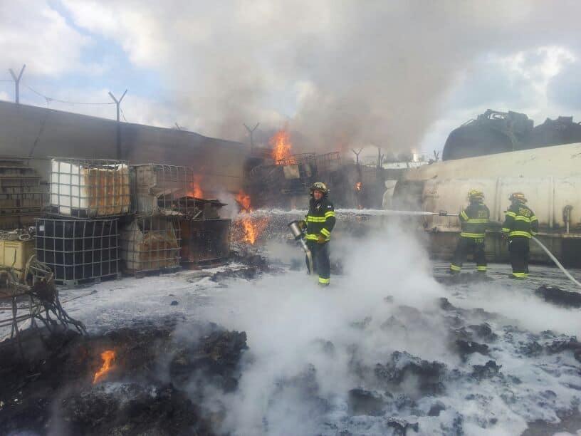 שריפה במפעל מתכות בקרית אתא