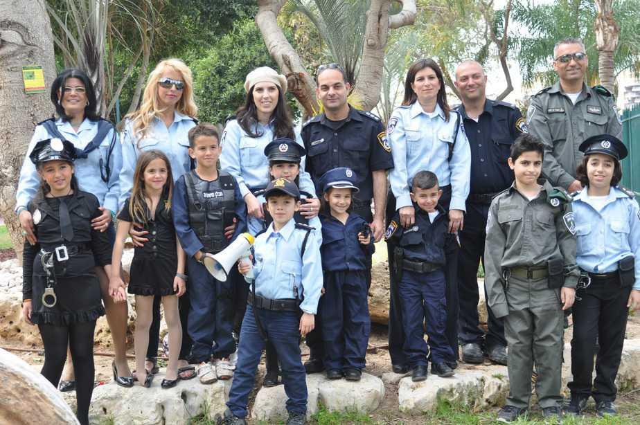 משפחת השוטרים בפורים