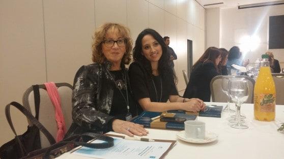 אורנה שטרקמן וציפי מורבאי בכנס נבחרות הציבור