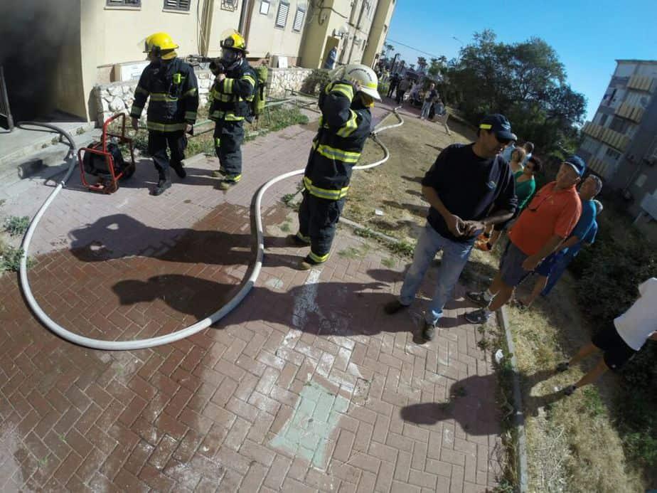 שריפה ברחוב דגניה בקרית חיים