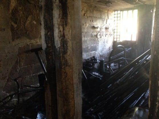 שריפה במחסן ברחוב טרומן