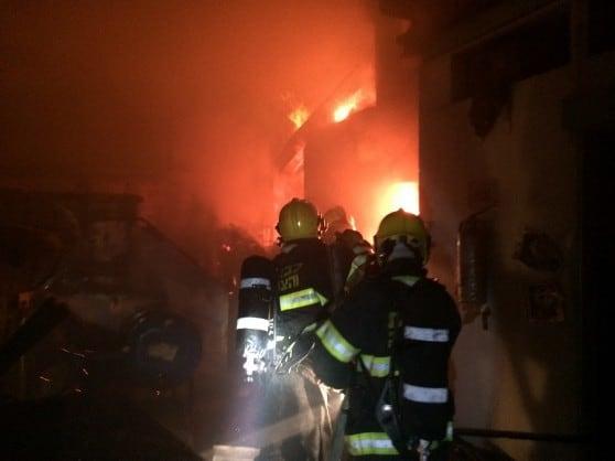 שריפה במפעל אגמים מתכות