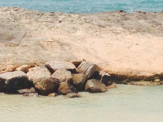 מערת אכזיב נחסמה עם אבנים