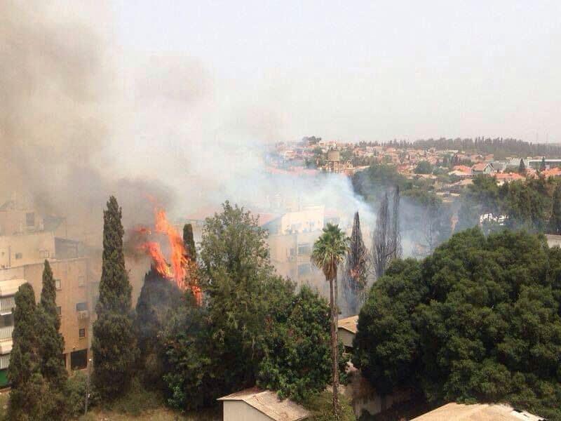 שריפה סמוך לבית הספר עירון