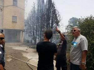 ראש העירייה צביקה גנדלמן הוזעק למוקד שריפה