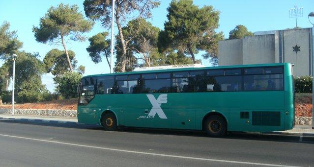 אוטובוס אגד בפרדס חנה (צילום: נירית שפאץ)