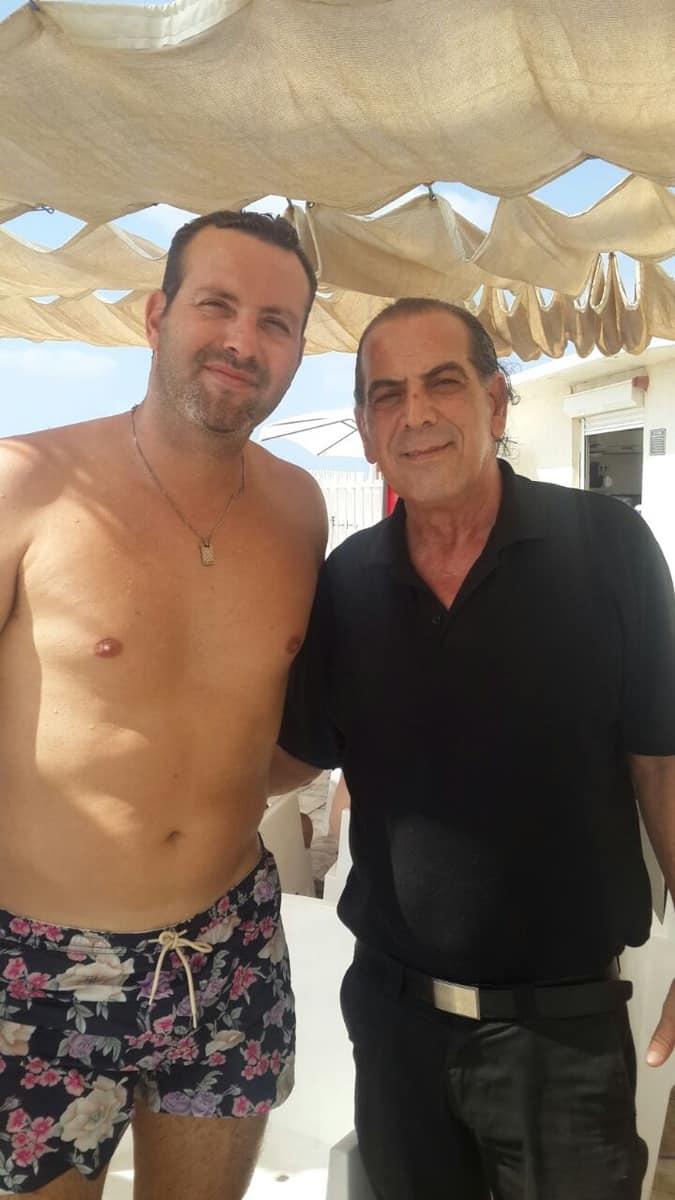 שמעון גרשון ואריה פיטוסי במלון סי לייף