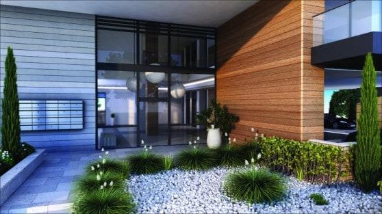 הכניסה לבניין. פרויקט CASA-NELSON (הדמיה: THE CUBEׂ)