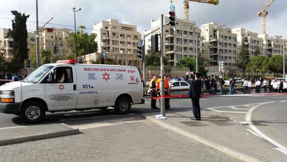פיגוע דריסה בירושלים (צילום: מוטי קרליץ)