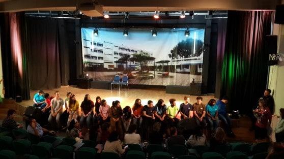 קבוצת התיאטרון בערב המופע צילומים: עיריית קרית ביאליק