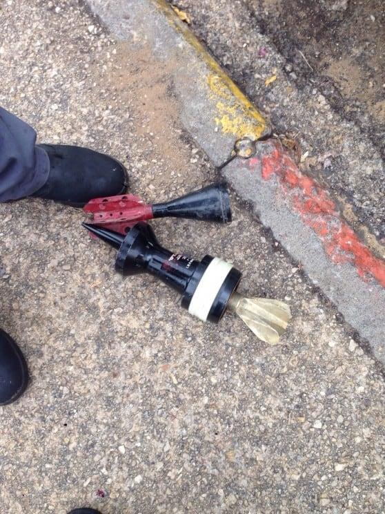 חומרי נפץ שנמצאו על ידי כוחות הביטחון