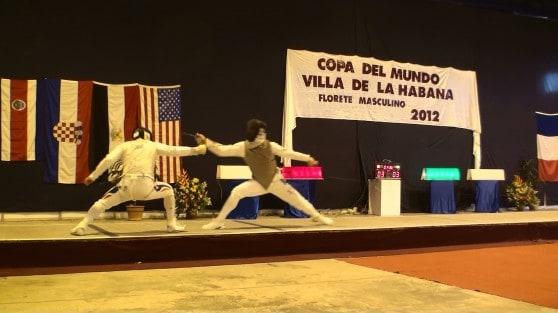 גביע עולם קובה. מאור נגד SINTES מצרפת (צילום באדיבות מועדון הסייף בעכו)