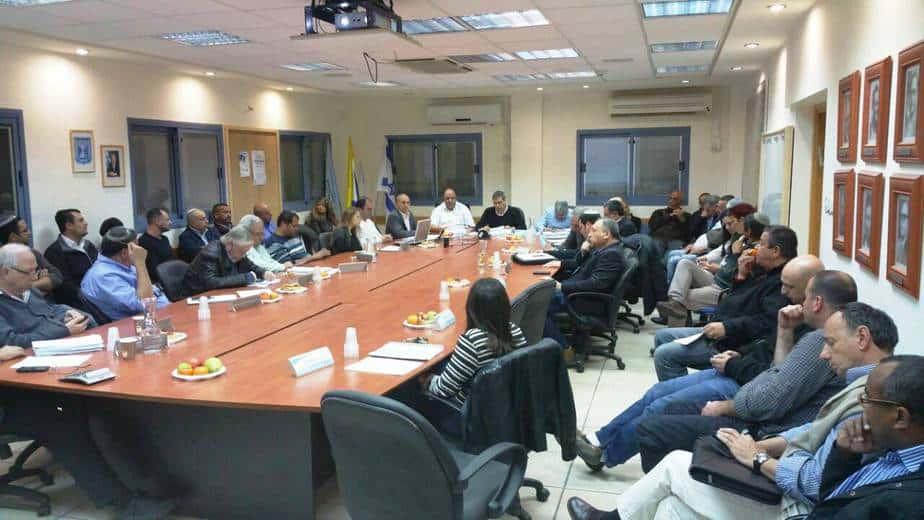 ישיבת התקציב בעיריית עפולה (צילום עצמי)