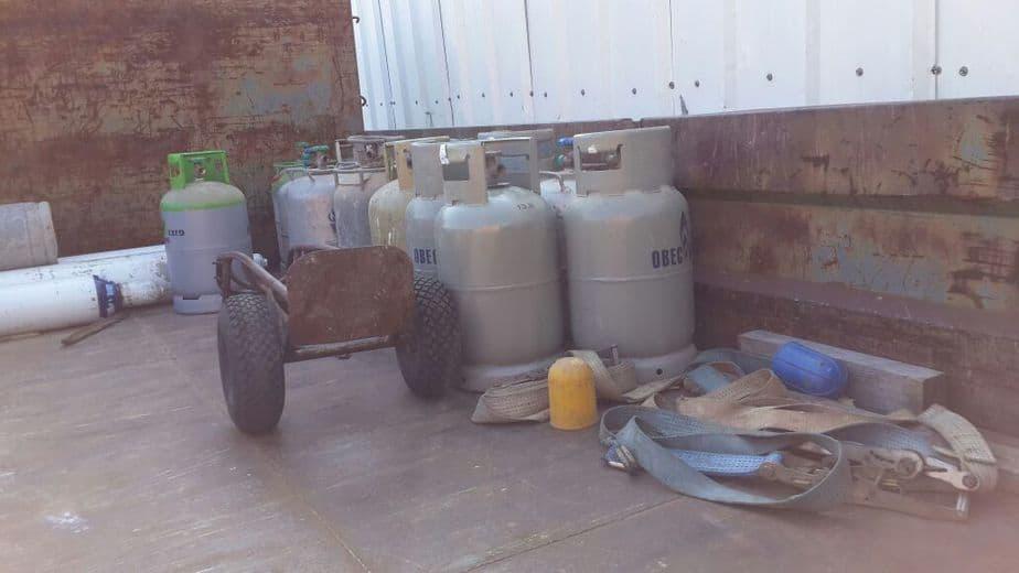 גז פיראטי בכמויות. צילום באדיבות מנהל הדלק והגז ומשרד התשתיות הלאומיות האנרגיה והמים