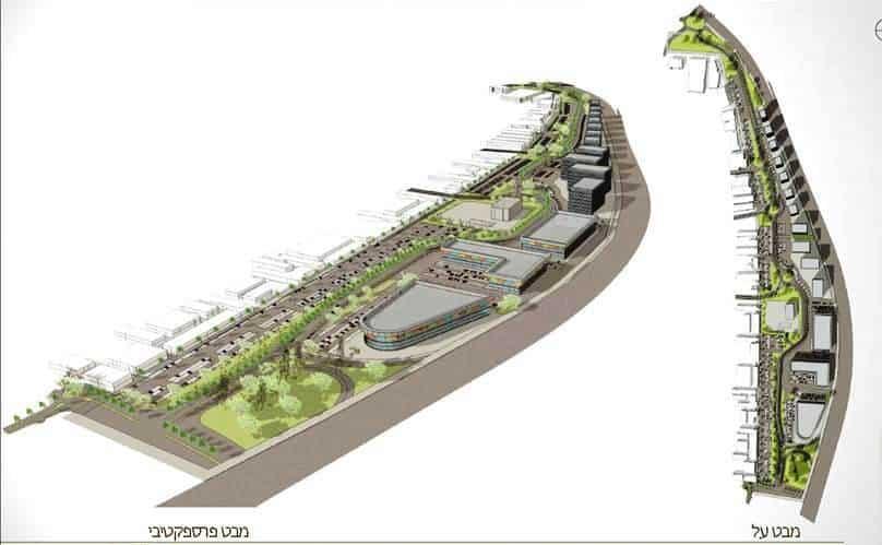 הדמיה של פארק התעשיה (באדיבות בר לוי אדריכלים)