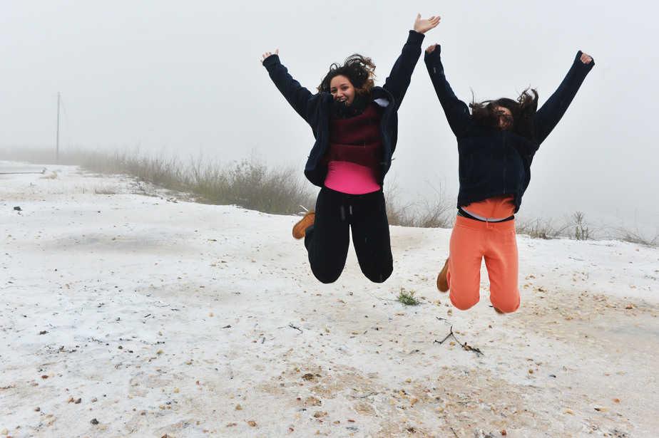 שלג בנצרת עילית אשתקד (צילום: ישראל פרץ)