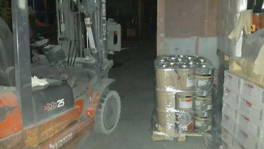 הציוד שהחשודים ניסו לגנוב. מפעל נירלט בנתניה (צילום: חטיבת דוברות המשטרה)