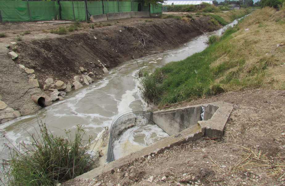 ביוב בנחל גדורה (צילום: אלון בן מאיר, רשות נחל הקישון)