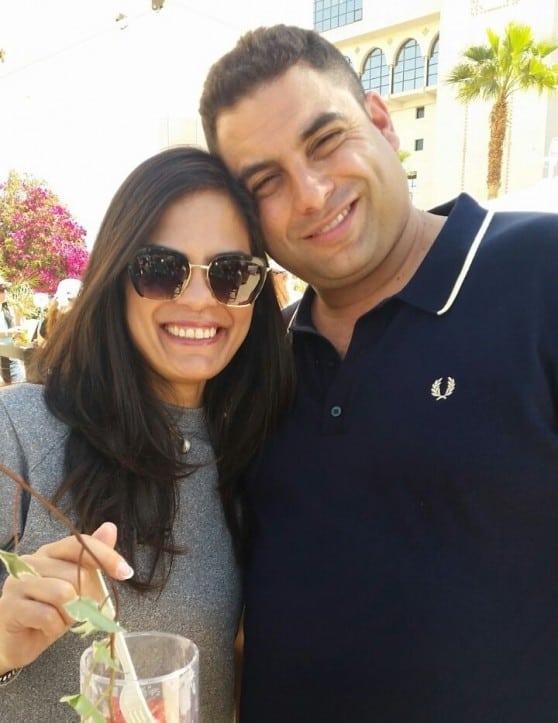 עורך הדין גיא אופיר ואשתו דולי (צילום: עצמי)
