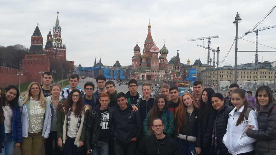 תלמידי נצרת עילית במוסקבה (צילום: עצמי)