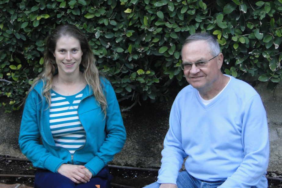 מיכל רביץ עם אביה איסר (צילומים עצמי)