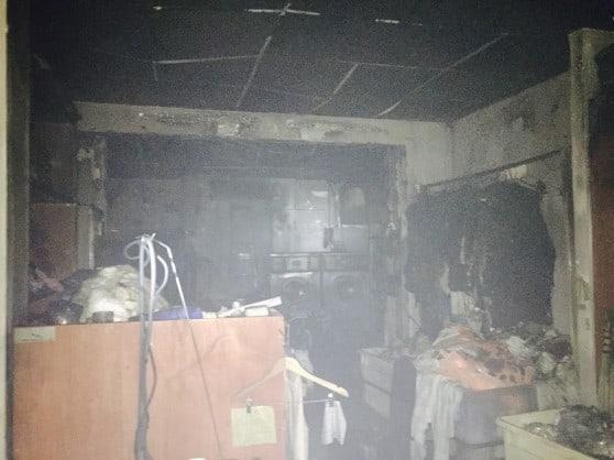 מכבסת עדן, לאחר השריפה (צילום: כיבוי אש, תחנת זבולון)