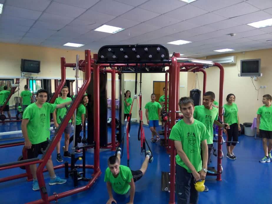 חדר כושר פונקציונאלי לרווחת תלמידי תיכון 'רבין' קרית ים צילום: עצמי