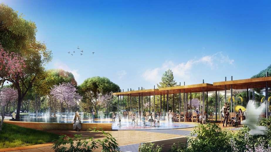 הדמיית הפארק בפרויקט OPARK באור עקיבא (צילום: איוולב מדיה )