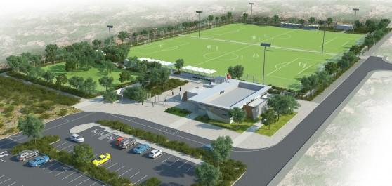 השקעה של 15 מיליון שקלים. פארק הספורט (הדמיית מחשב: עיריית חיפה)