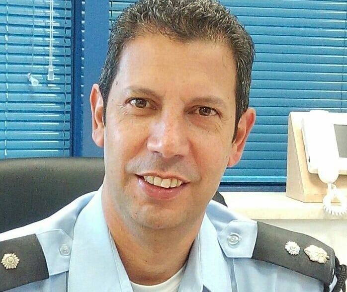 """מפקד תחנת נהריה, סנ""""צ יוסי שרביט (צילום: חטיבת דובר המשטרה)"""