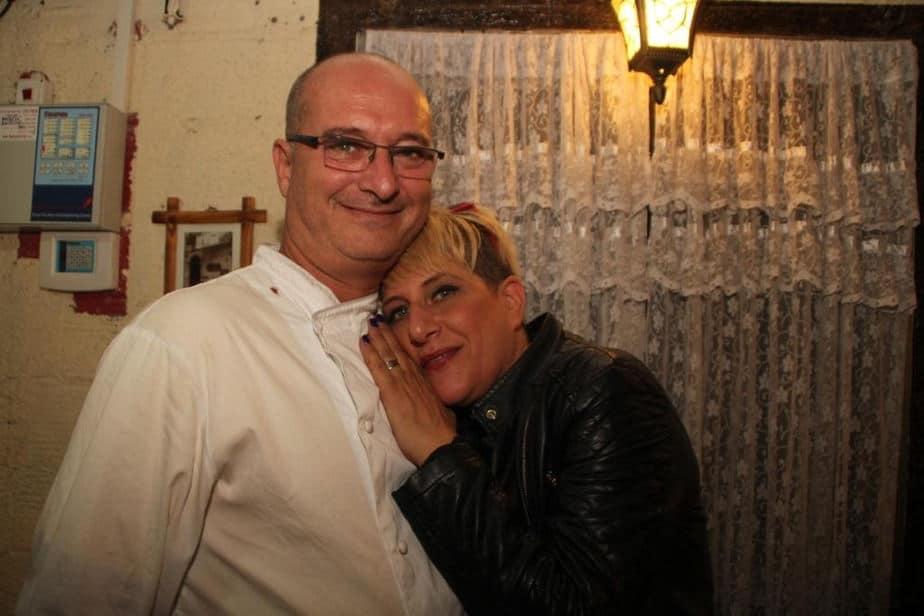 השף עופר רוט וסי היימן (צילום: שרה איקו)