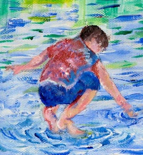 ציור של הדר גולדין (באדיבות משפחתו)
