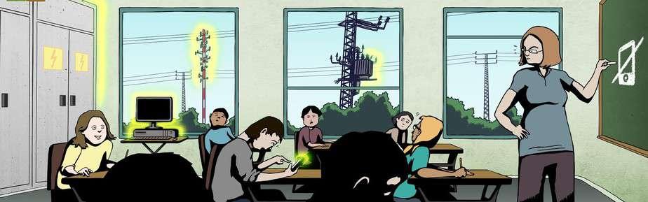 קרינה במוסדות חינוך (צילום באדיבות: עמותת אזרחים למען הסביבה )