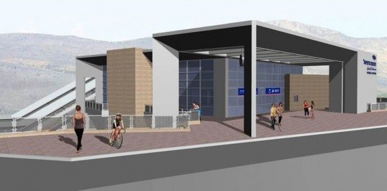 הדמית  תחנת רכבת כרמיאל (צילום: אלכס הובר)