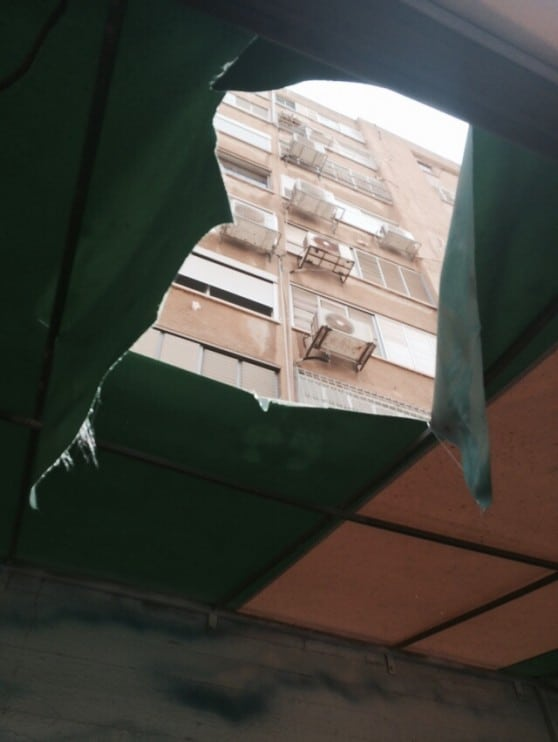 בנין הנפילה (צילום: איחוד הצלה כרמל)