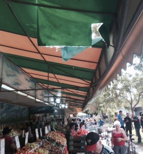 נפילה ליד החנות (צילום: דוברות איחוד הצלה כרמל)