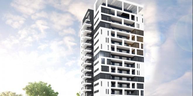"""דירות חדשות בהנחה. פרויקט שתית FIRST בשכונת כורדני, קרית מוצקין (הדמיה: יח""""צ)"""