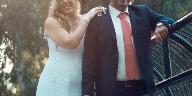 חתונה מרגשת באולמי כינורות. אורית ואסף בק (צילום: סאני כהן)