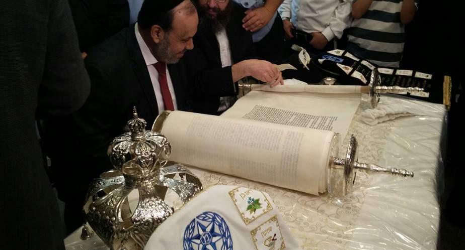 הכנסת ספר תורה לעילוי נשמתו של השוטר זידאן סייף (צילום: איחוד הצלה כרמל)