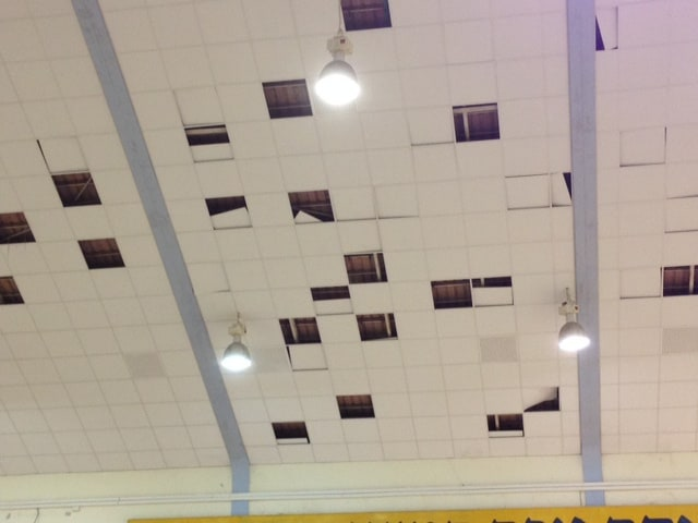 תקרת האולם (צילום: פרטי)
