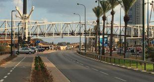 גשר השמורות הונף בהצלחה (צילום: ישראל שובל)