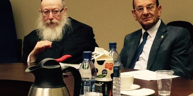 עדי אלדר, ושר הבריאות יעקב ליצמן (צילום: אלכס הובר)