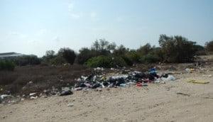 פסולת בחוף הכרמל, קרדיט: באדיבות המשרד להגנת הסביבה