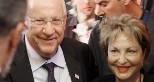רעיה שטראוס בן דרור עם נשיא המדינה  ראובן רובי ריבלין