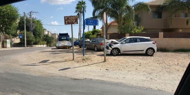 """אחת התאונות האחרונות ברחוב רש""""י (צילום: עצמי)"""