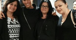 לינור אברג'יל ונשות העיר (צילום: עצמי)
