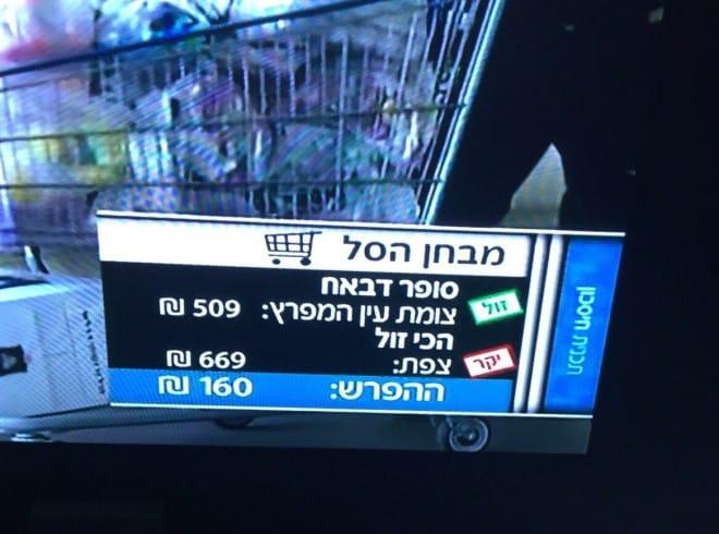 סל הקניות המשתלם. דבאח (צילום מסך)