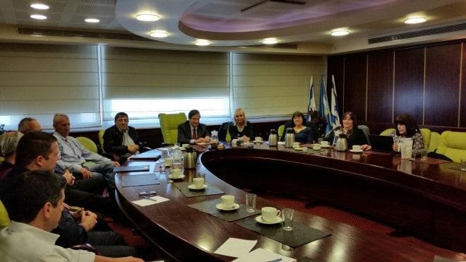 ישיבה עם אוניברסיטת חיפה. 2015  (צילום: עיריית נהריה)