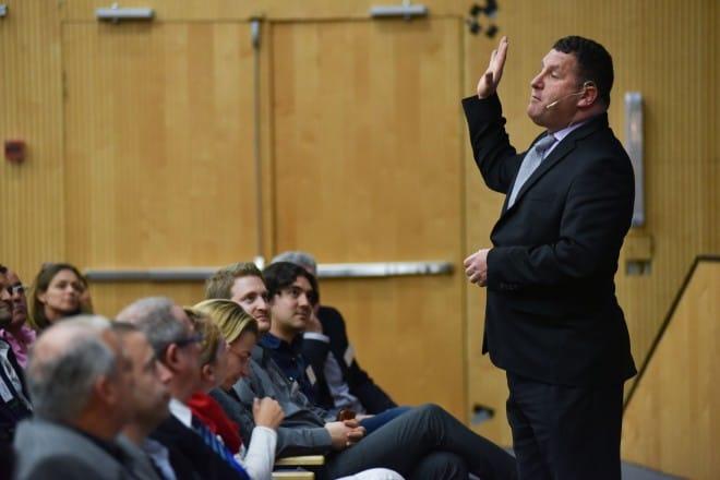 כנס פורום מנהיגות העתיד של יזמים צעירים. בתמונה: רוברט שמין (צילום: דורון גולן)